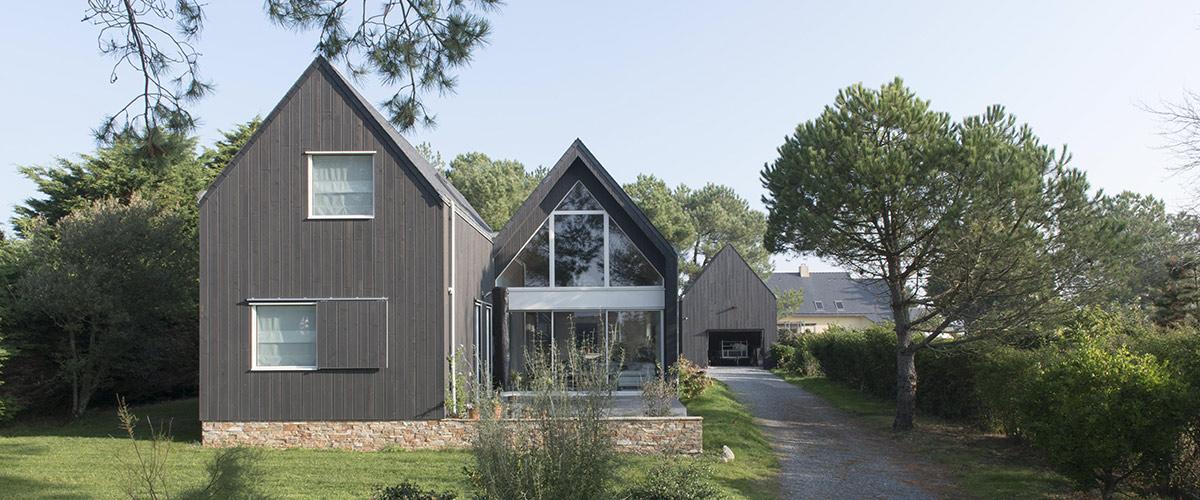 Maison d'architecte en bois à Piriac
